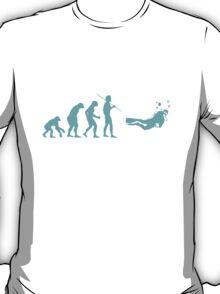 Evolution to Scuba Diver LIGHT BLUE T-Shirt