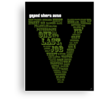 GTA V - One Last Job Canvas Print