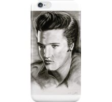 Elvis in black and white iPhone Case/Skin