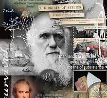 charles darwin by arteology