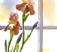Irises in the Window by KipDeVore