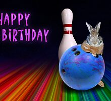 Bowling Birthday Bunny Rabbit by jkartlife