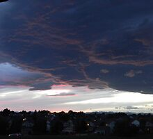 Cloudy Sunset over Denver by naturescopes