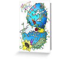 Peace Love Life Greeting Card