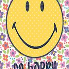 SMILEY be Happy  Case Cover for Apple iphone 4 4s by guanshop