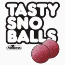Tasty Sno Balls light tee shirt by BrBa