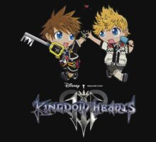 Kingdom Hearts III - Sora and Roxas Chibi by Sasuune