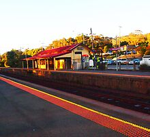 The Old Railway Station Kilmore East VIC Australia by Margaret Morgan (Watkins)