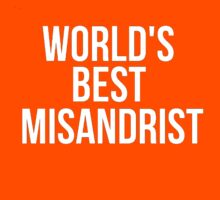 Worlds Best Misandrist by Alan Craker