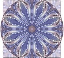 Slice of Blue Agate Mandala by haymelter