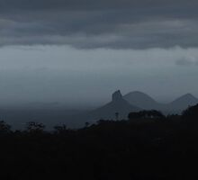 Glasshouse Mountains  by Digby