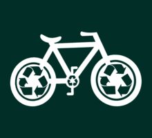 Bicycle Go Green (dark) by KraPOW