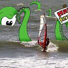 Wind Surfer Birthday Card by TheKingLobotomy