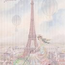 Bicycling through Paris by Sarah Vernon