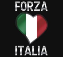 Forza Italia - Italian Flag Heart & Text - Metallic by graphix