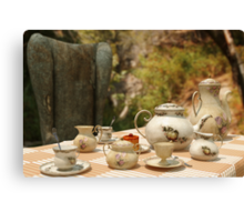 A Mad Tea Party - Alice In Wonderland Art Canvas Print