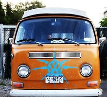Orange VW Volkswagon Vanagon by DangRabbit