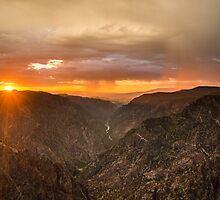 Sunset Overlook - Black Canyon of the Gunnison National Park, Colorado by Jason Heritage