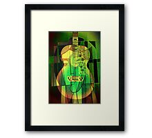 5161 Guitar with Fcae Framed Print