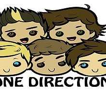 One Direction Cartoon Sticker by smentcreations