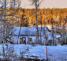 """The Old Winter Cottage By The Lake"" by Diana Graves Photography"