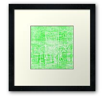 Gradual kickoff meets recurrant yon bash currency. Framed Print