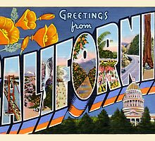 California Vintage Greetings by TravelShop