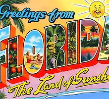 Florida Vintage Greetings by TravelShop
