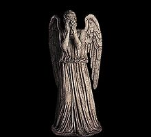 Weeping Angel (Black Background) by Marjuned
