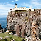 Neist Point Lighthouse on Skye by Richard Flint