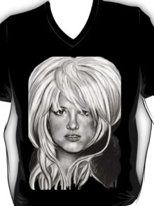 Britney in black and white T-Shirt
