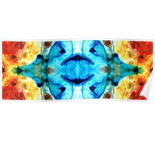 Synchronicity - Colorful Abstract Art by Sharon Cummings Poster