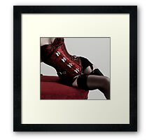 Corset clasps Framed Print