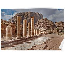nabatean city Petra, Cardo Maximus Poster
