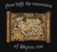 Skyrim Map by GlitterZombie