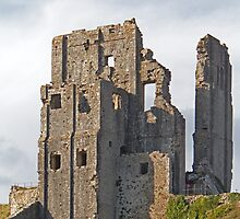 Corfe Castle in Dorset by Keith Larby