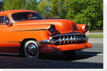 Orange American Car  by mrivserg