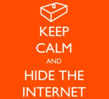 Keep Calm and Hide The Internet - The IT Crowd by robotplunger