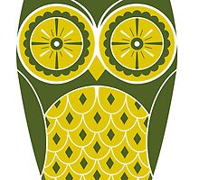 Cute Retro Owl by Chris Warren