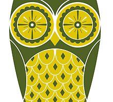 Cute Retro Owl by Chris Warren