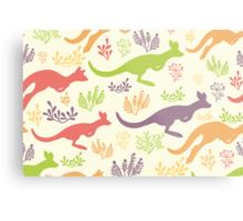 Jumping kangaroos pattern Metal Print