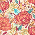 Bright garden pattern by oksancia