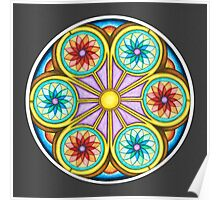 Portal Mandala - Print w/grey background Poster