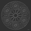 Portal Mandala - Print - white design by TheMandalaLady