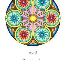 Portal Mandala - Poster w/Message by TheMandalaLady