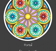 Portal Mandala - Poster w/Message and Grey Background by TheMandalaLady