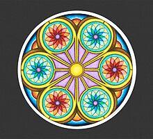 Portal Mandala - Card   w/Grey Background by TheMandalaLady
