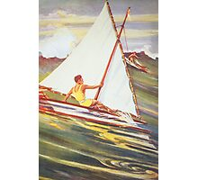 Man windsurfing on wave Photographic Print