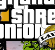 Grand Shrek Onion Sticker