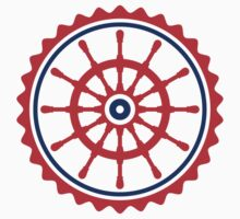Round Ship Steering Wheel Logo by Style-O-Mat